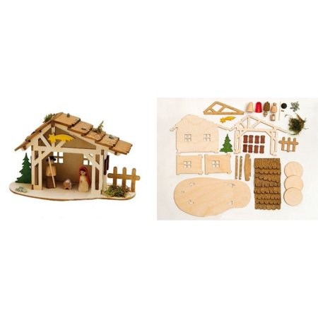 Do it yourself christmas nativity stable wooden german kit diy do it yourself christmas nativity stable wooden german kit diy project germany solutioingenieria Gallery