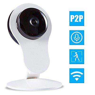 wireless security camera, amtronics hd wifi security surveillance ip camera  home monitor with motion detection two-way audio night vision