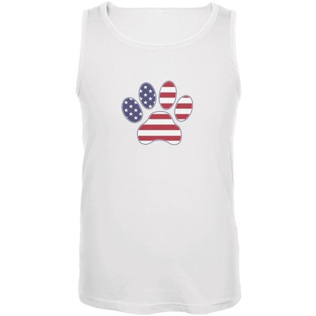 4bb9491f Animal World - 4th of July Patriotic Dog Paw White Adult Tank Top -  Walmart.com
