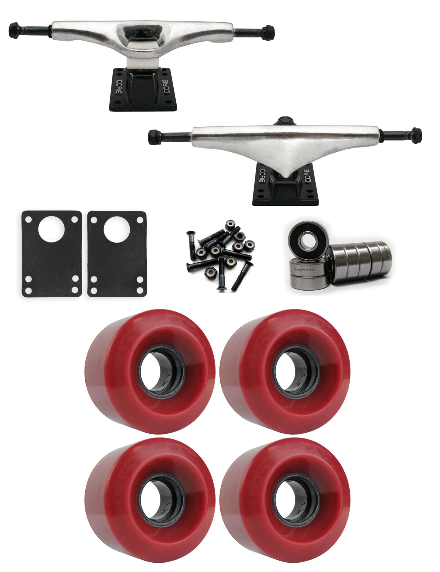 Core 6.0 Longboard Trucks Wheels Package 70mm x 46mm 83A 2602C Purple clear