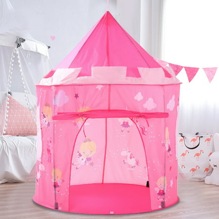 Asewan Foldable Teepee Tent Kids Classic Play Princess Castle Land Kids Tabernacle Indoor Playhouse Play Tent Camping Playground Stimulate Pretend and Imaginative Play Kids Indoor Playground