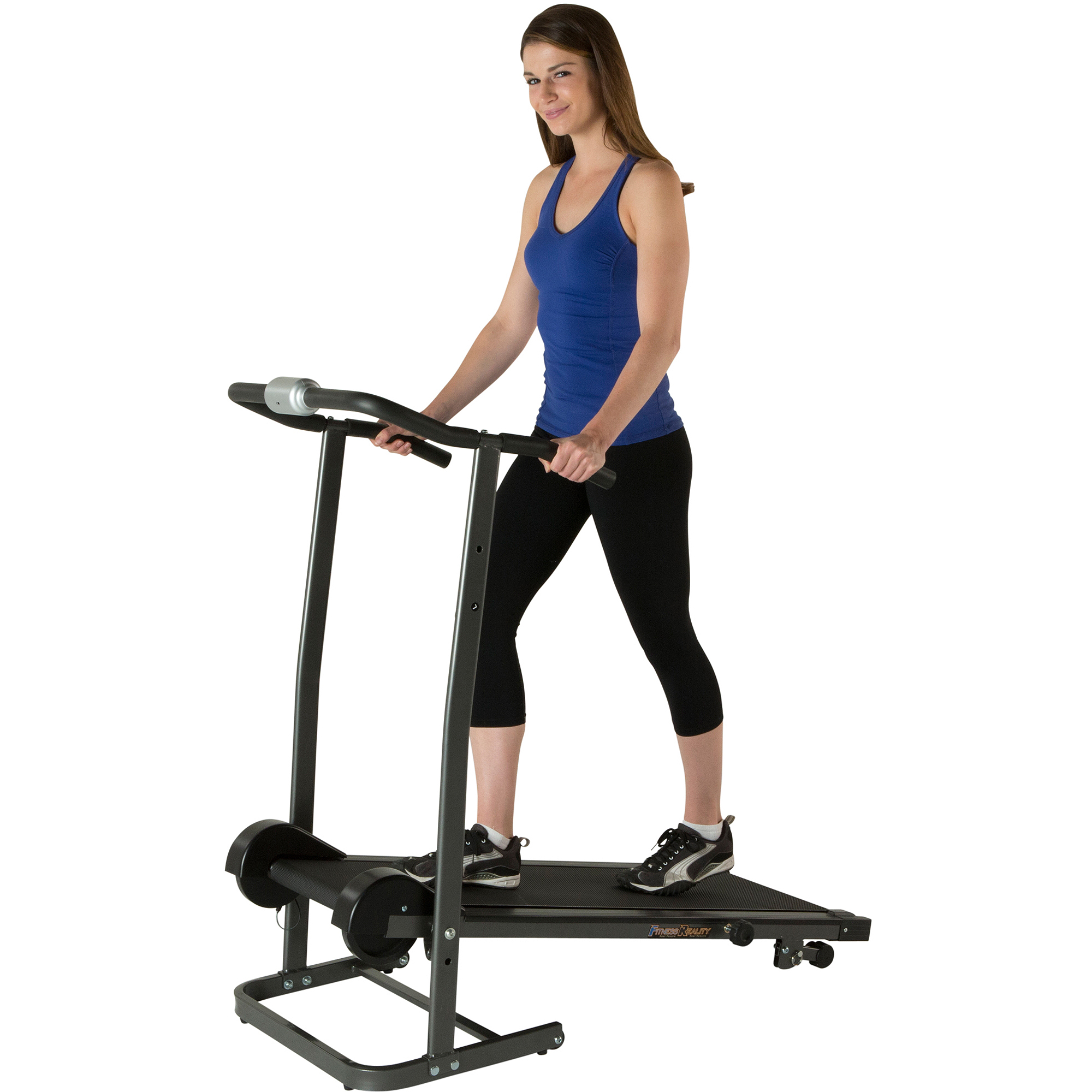 FITNESS REALITY TR1000 Manual Treadmill with 2 Level Incline and Twin Flywheels