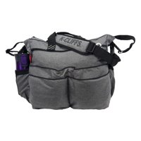 Fashion Diaper Bag Quality Baby Diaper Organizer Tote Bag Mommy Handbag Daddy's Messenger Bag With Padded Changing Mat Gray