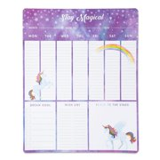 Stay Magical Unicorn Weekly Planner Desk Pad, Purple