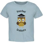 Graduation - Preschool Graduate Owl Light Blue Toddler T-Shirt - 3T