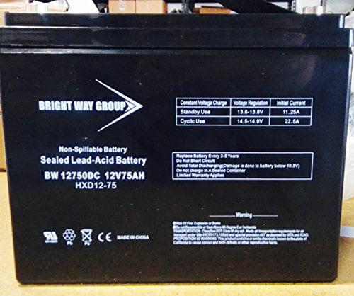12V 75Ah SLA Battery for Wayne ESP25 Back-Up Pump - BW /N...