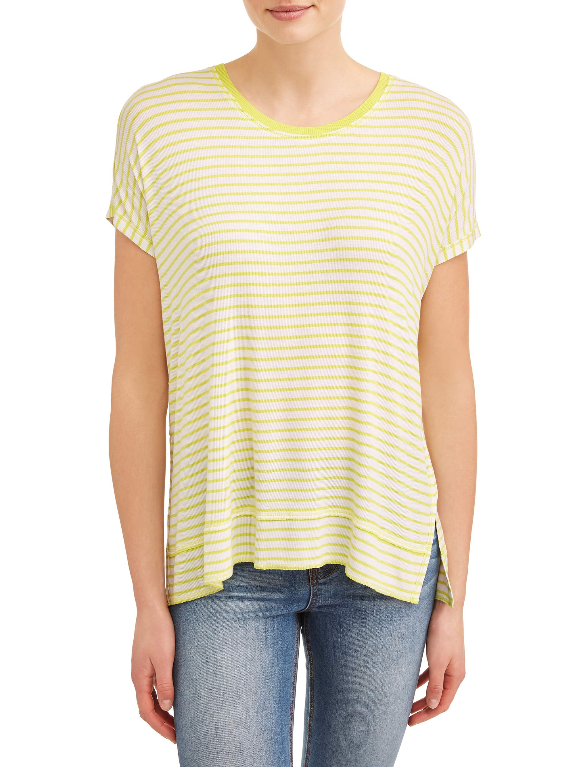 Time And Tru Dolman Rib Tee