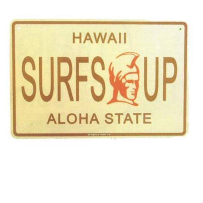 Seaweed Surf Co SF69 12X18 Aluminum Sign Hawaii Surfs Up