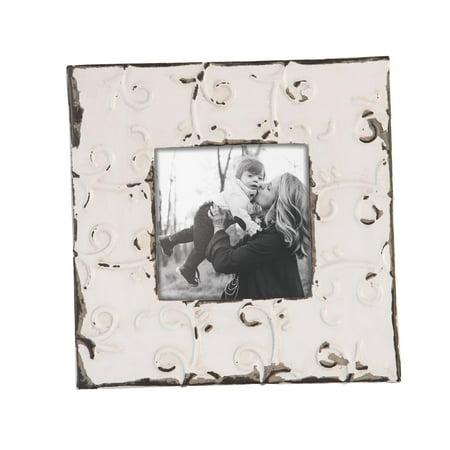 Foreside Home and Garden 5X5 Tin Tile Photo Frame