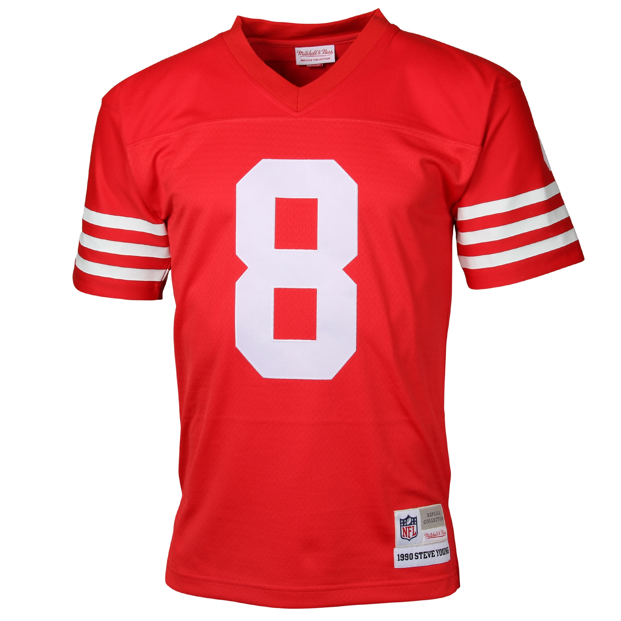 c34c45ad07e Steve Young San Francisco 49ers Mitchell   Ness Retired Player Vintage  Replica Jersey - Scarlet - Walmart.com