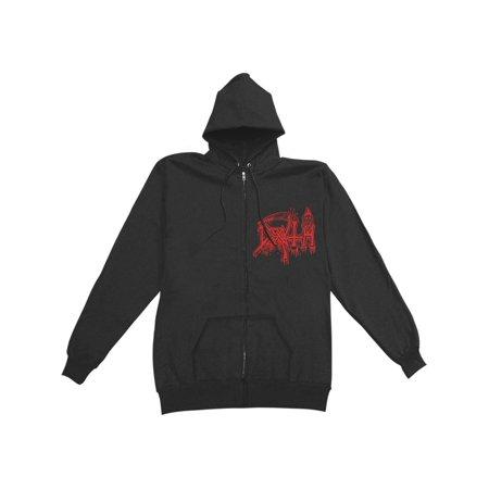 Death Men's  Scream Bloody Gore Zippered Hooded Sweatshirt Black](Blood Gore)