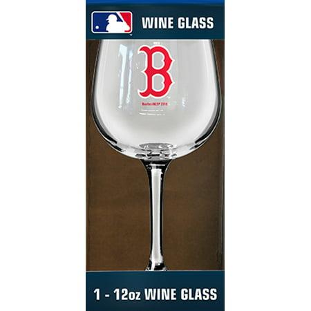 Boston Red Sox 12oz Mlb/red Sox Color Wine 1pk Box