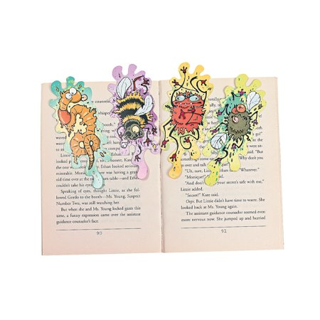 Fun Express - Smashed Bugs Bookmarks for Halloween - Stationery - Bookmarks - Bookmarks - Halloween - 24 Pieces - Homemade Halloween Bookmarks