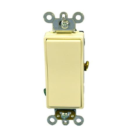 Leviton 5685-2A Almond Decora Plus Single Pole Double Throw Maintained Rocker Switch 15A - Leviton Decora Plus Double Throw
