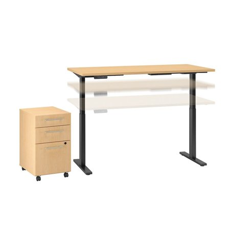 Move 60 Series Height Adjustable Standing Desk with Storage in Maple - image 6 of 7
