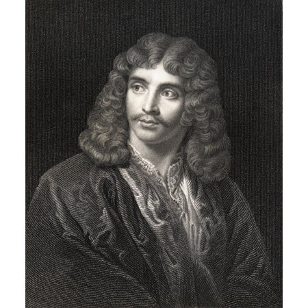 Jean Baptiste Poquelin Moliere 1622-1673 French Comic Playwright And Actor From The Book Gallery Of Portraits Published London 1833 Canvas Art - Ken Welsh Design Pics (26 x 32)