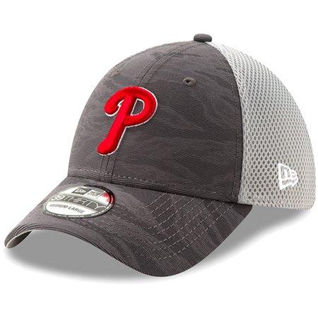 1da7250e5 Philadelphia Phillies New Era Camo Front 39THIRTY Flex Hat - Black