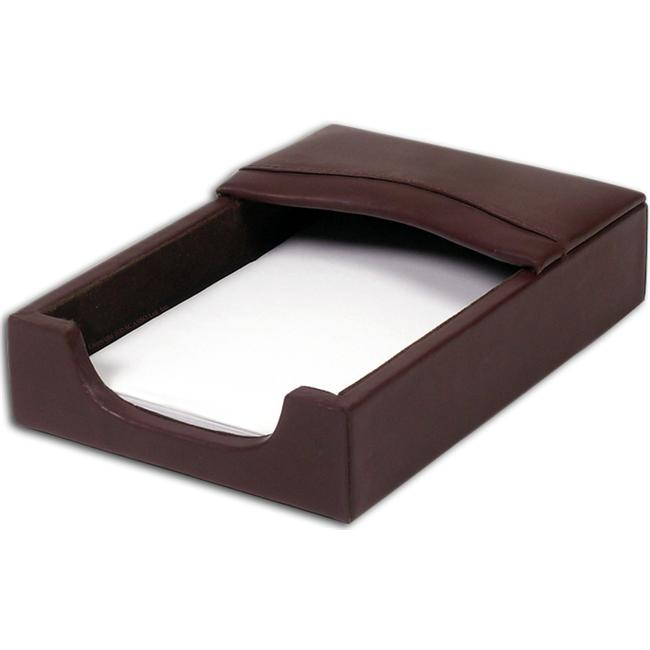 """4""""x6"""" Chocolate Brown Leather Memo Holder by Made-to-Order"""