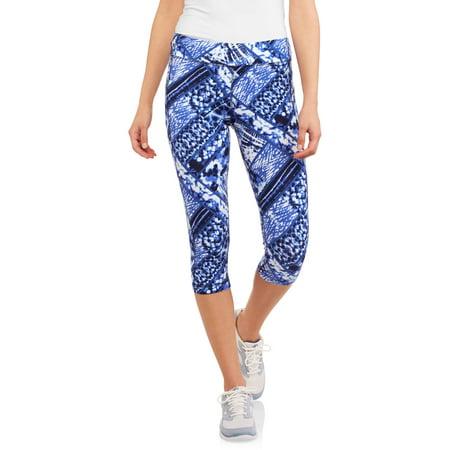Danskin Now Women's Active Allover Print Capri Legging