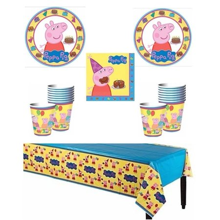 Peppa Pig Birthday Party Supply Pack for 16 Guests - Shipped Fedex Express (Peppa Birthday)