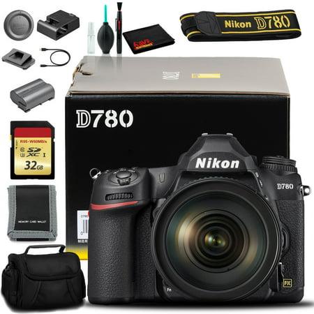 Nikon D780 DSLR Camera with 24-120mm Lens (International Model) with Memory Kit