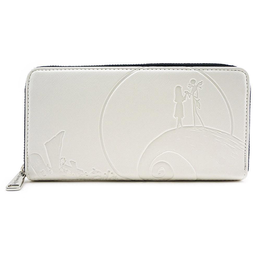 Loungefly Nightmare Before Christmas Debossed Zip Around Wallet White Handbag - image 1 de 1