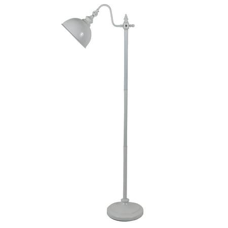 56u0022 Chloe Farmhouse Floor Lamp, White