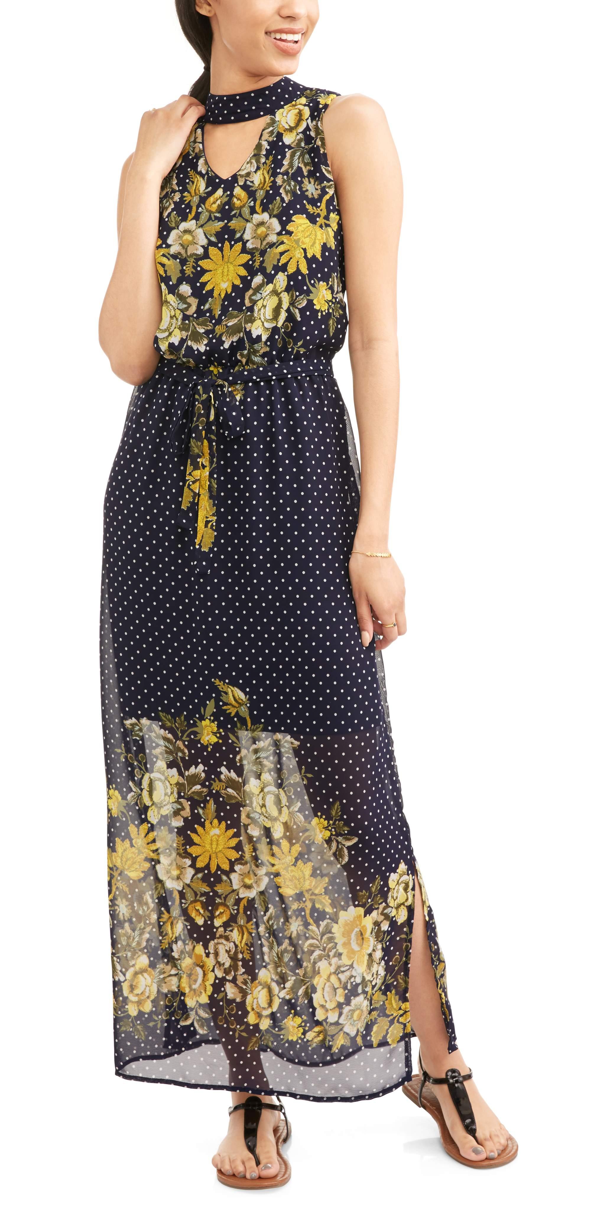 Allison Brittney Women's Cutout Maxi Dress