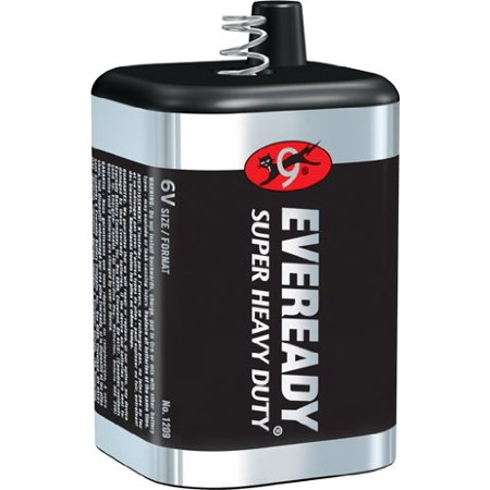 4 Pack EVEREADY 1209 Super Heavy Duty Battery 6-Volt Each