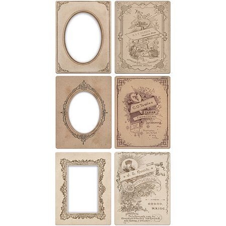 Idea-Ology Mini Cabinet Card Frames, 6pk, Holds 3
