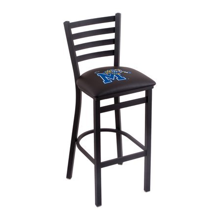 "L004 - 25"" Black Wrinkle Memphis Stationary Counter Stool with Ladder Style Back by the Holland Bar Stool Co."