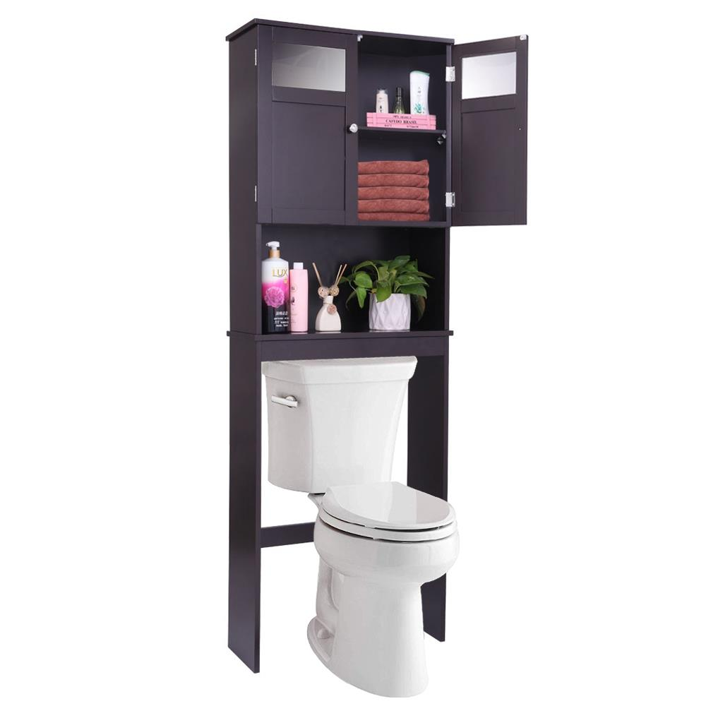 ktaxon bathroom cabinet over-the-toilet space saver double