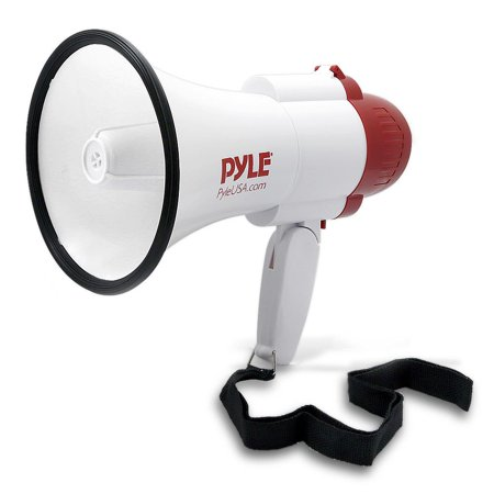 PYLE PMP39VC - Megaphone PA Bullhorn with Built-in Siren, Adjustable Volume Control, Voice-Changer Modes