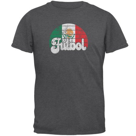World Cup Mexico Futbol Football Soccer Mens T Shirt Dark Heather MD Soccer Sport Futbol Old Shirt