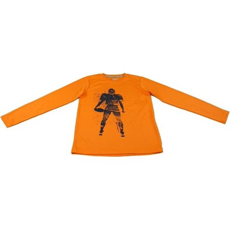 Champion Authentic Boys Size 4 Long Sleeve Football Player Top, Vibrant Orange - Little Boy Football Player