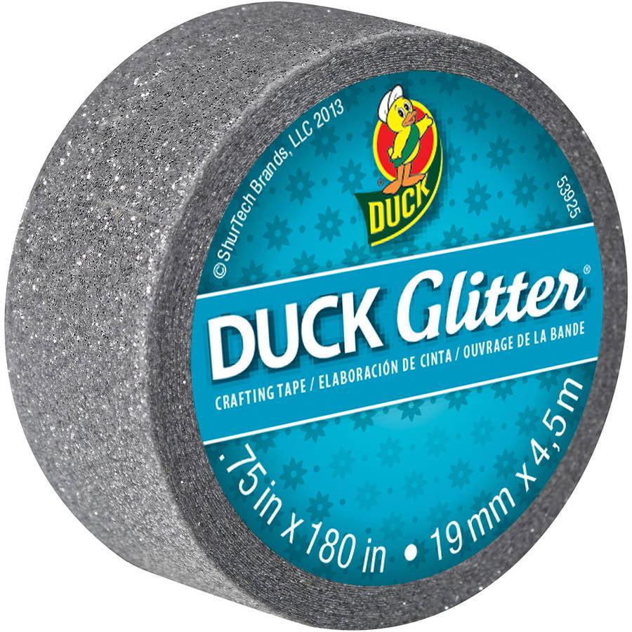 Duck Brand Glitter Mini Roll, Silver