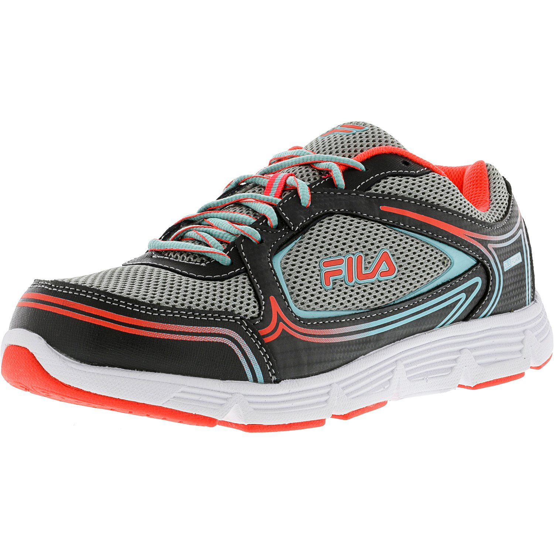 Fila Women's Soar 2 Castlerock   Ethereal Blue Neon Pink Ankle-High Running Shoe 7W by Fila