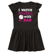 I Watch Baseball with My Dad Infant Dress