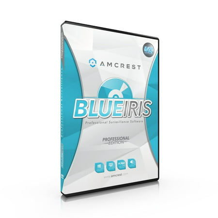 Amcrest Blue Iris Professional Version 4 - Zone Motion Detection, H.264 Compression Recording, E-mail And SMS Text Messaging