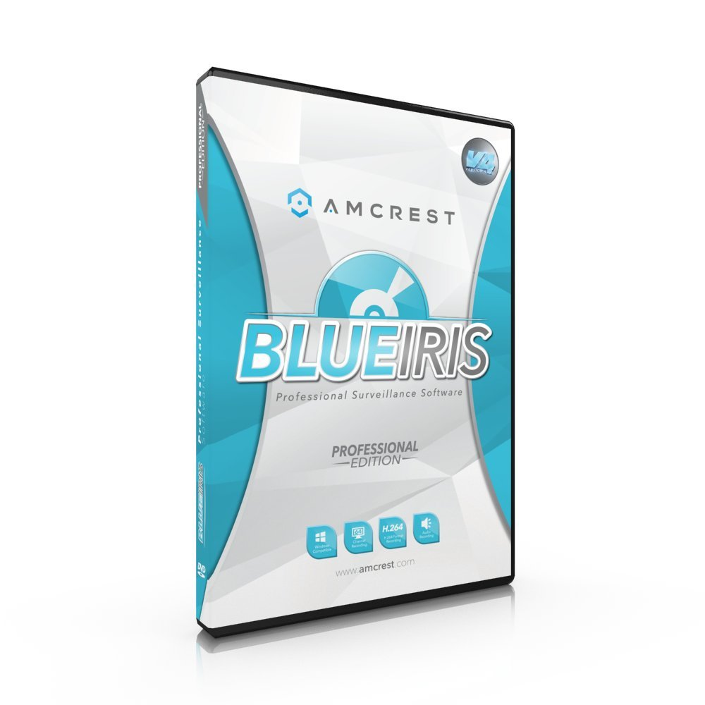 Amcrest Blue Iris Professional Version 4 - Zone Motion Detection, H.264 Compression Recording, E-mail And SMS Text Messaging Alerts