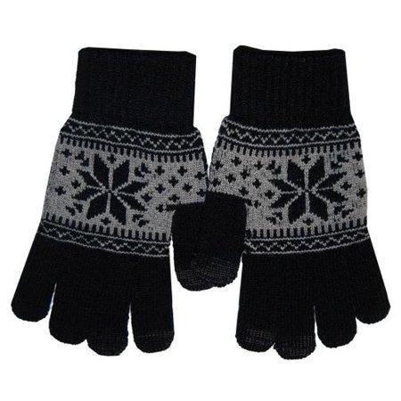 Boss Tech GLOVEGYSNOW Touch Screen Gloves, Tech Gloves, Texting Gloves (Gray Snowflake)