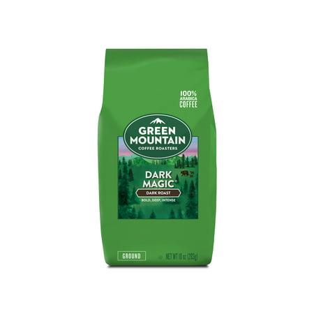 Green Mountain Coffee Roasters Dark Magic Ground Coffee, Dark Roast, Bagged 12 Ounce