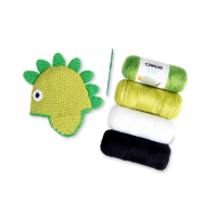 Caron Dino-Hat, Crochet Kit, Size 1-2yrs by Repeat Crafter Me