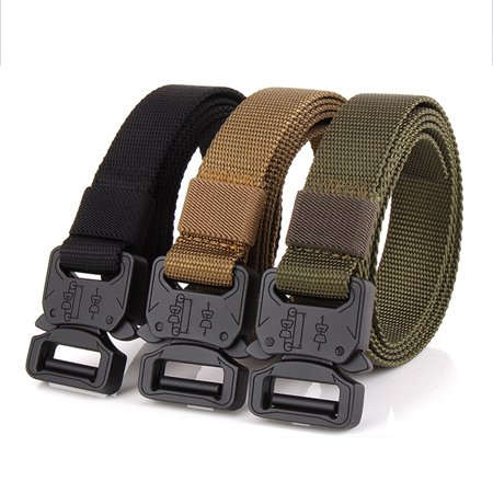 Lixada Tactical Quick Release Belt with Heavy Duty Buckle for Outdoor Camping Mountaineering Climbing Training Hunting