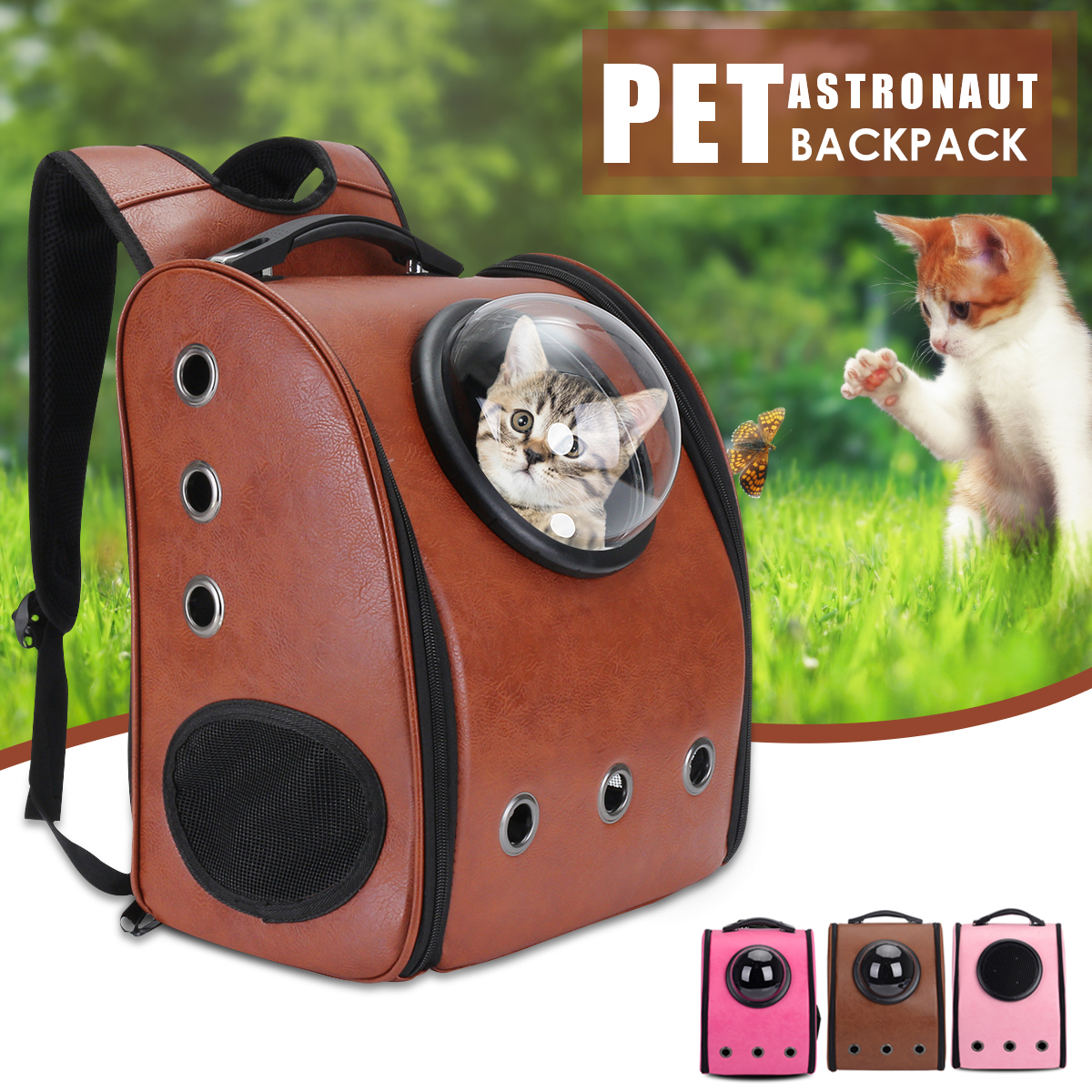 Detachable Window Backpack Pet Carrier Breathable Shoulder Bag Mobile Bed for Cats, Dogs, Small Animals