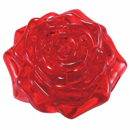 3D Crystal Puzzle, Red Rose