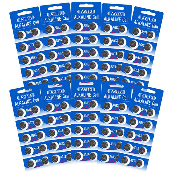 AG13 / LR44 Alkaline Button Watch Battery 1.5V - 100 Pack - FREE SHIPPING