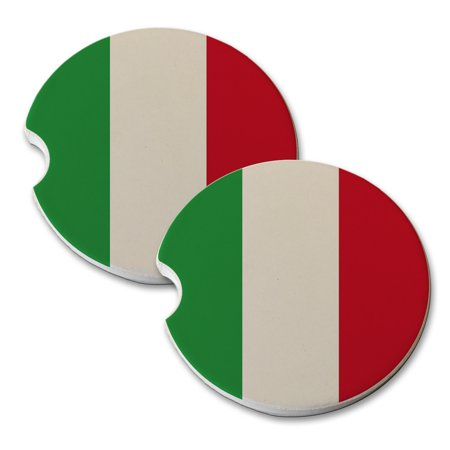 KuzmarK Sandstone Car Drink Coaster (set of 2) - - Italy Drink