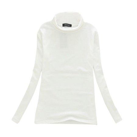 Fall Winter Fashion Long Sleeve Turtleneck Tops Cotton Slim Fit T-Shirt Casual Women Sexy Stretchy Shirt Ladies Basic Tee