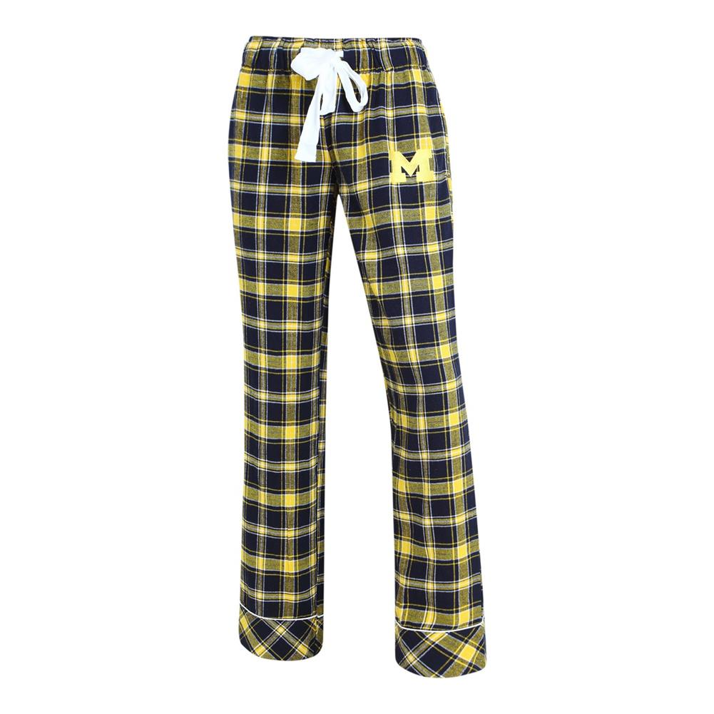 Ladies Capitvate Flannel University of Michigan Wolverines Pajama Pants